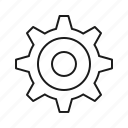 gear, setting, settings, setup, tool icon