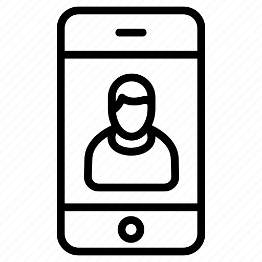 app, avatar, male, online, phone, smartphone, user icon