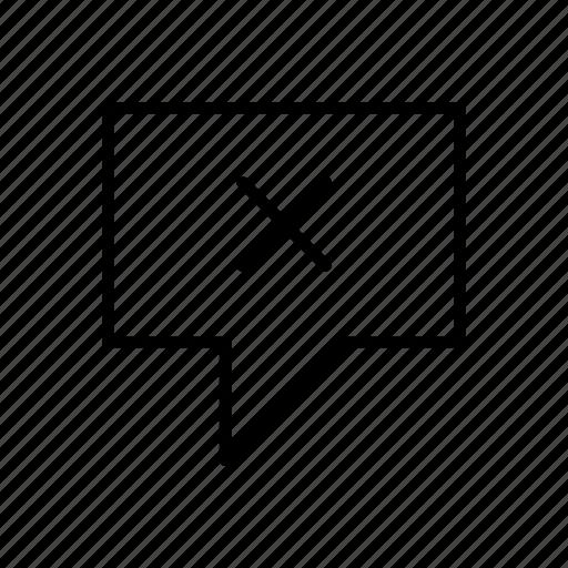 cancel, delete, failed, failure, message, sending, sms icon