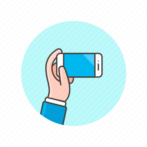 communication, device, electronics, hand, hold, phone, technology icon