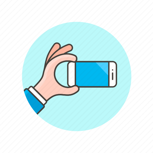 communication, device, electronics, hand, hold, phone, technology, watch icon
