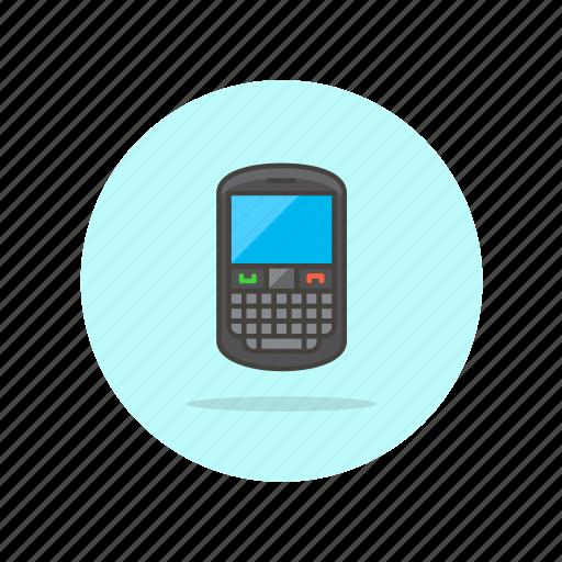 blackberry, communication, device, electronics, phone, qwerty, technology icon