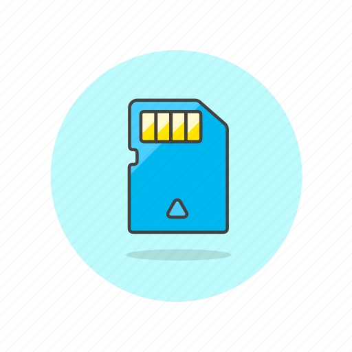 card, chip, electronics, mobile, phone, sd icon
