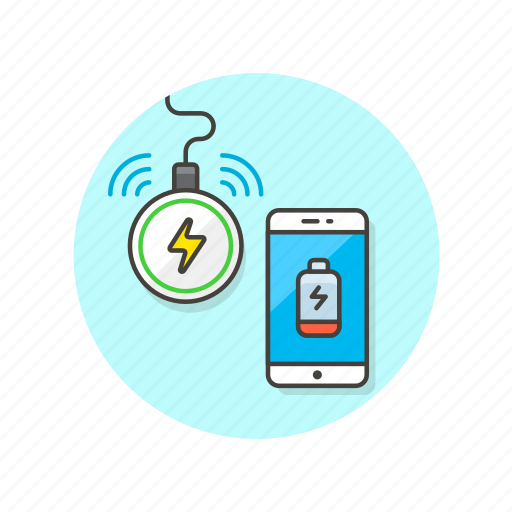 battery, call, charger, communication, electronics, phone, technology, wireless icon