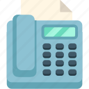 business, fax, office, printer, printing icon
