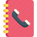 book, communication, connection, phone, smartphone icon