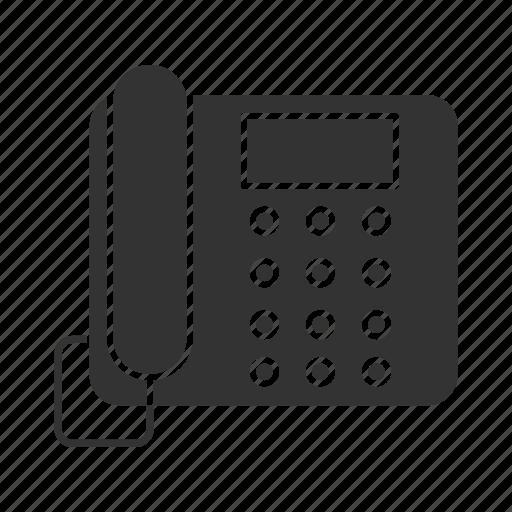 call, fax, handset, landline, office, phone, telephone icon