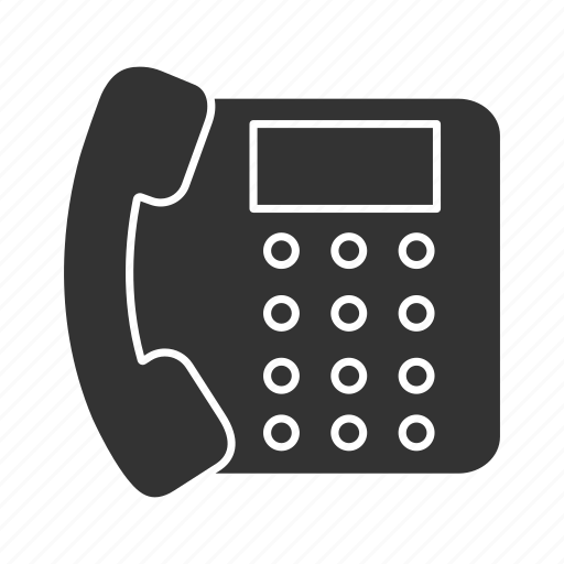 call, fax, handset, landline, office, phone, telephone icon