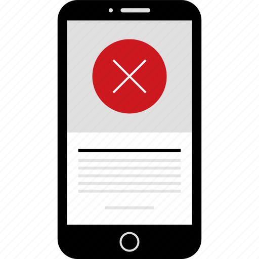 cross, delete, denied, phone, stop, wireframes, x icon