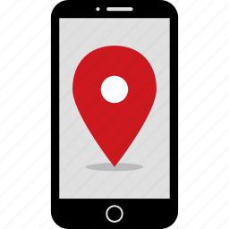 find, gps, location, phone, pin, wireframes icon