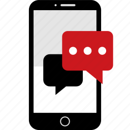 bubble, chat, conversation, phone, sms, talk, wireframes icon