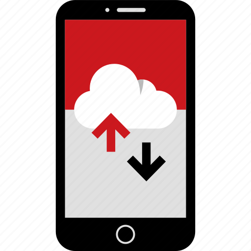 activity, arrow, cloud, down, phone, up, wireframes icon