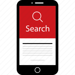 find, mobile, phone, results, search, wireframes icon