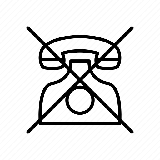 ban, call, communication, connection, connectivity, phone, telephone icon