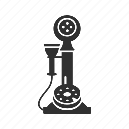 call, classic telephone, conversation, message, old phone, telephone, text icon