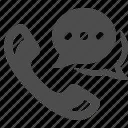 chat bubble, communication, phone, phones, speech bubbles, telephone icon
