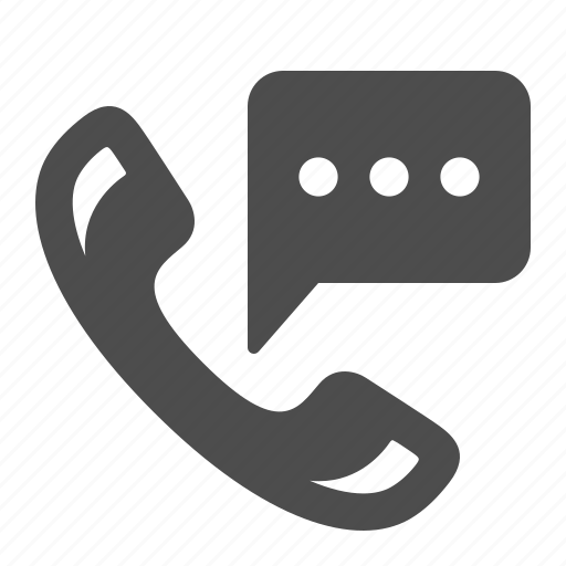 bubble, chat, communication, handset, phone, speech, telephone icon
