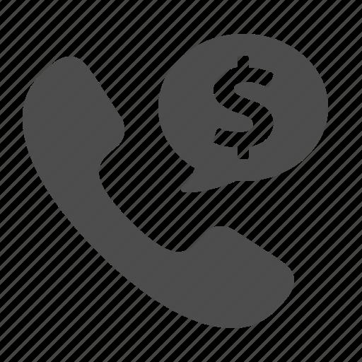 chat bubble, finance, money, phone, speech bubble, telephone icon