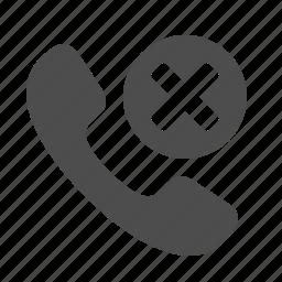 button, cancel, close, delete, handle, handset, phone, phones, telephone, x icon