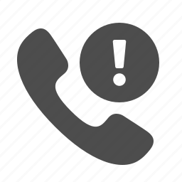 button, danger, exclamation mark, phone, telephone, warning icon