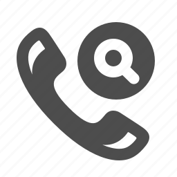handle, handset, magnifying glass, phone, search, telephone icon