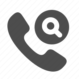 handle, handset, magnifying glass, phone, telephone icon