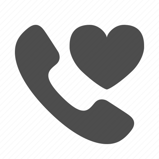 favorite, handle, handset, heart, love, phone, telephone icon