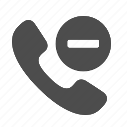 button, cancel, handle, handset, minus, phone, telephone icon