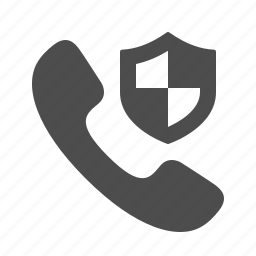 handle, handset, phone, security, shield, telephone icon