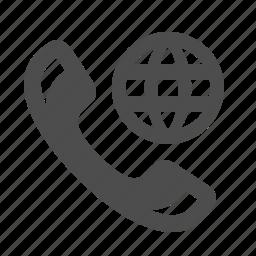 communication, globe, internet, phone, roaming, telephone, web icon