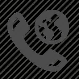 communication, earth, globe, phone, roaming, telephone, worldwide icon