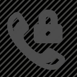 handle, handset, lock, locked, phone, security, telephone icon