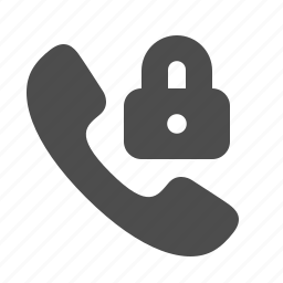 handle, handset, lock, locked, phone, security, telephone icon