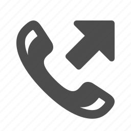 arrow, call, communication, handle, handset, phone, telephone icon