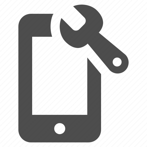 cell phone, mobile phone, phone, phones, repair, smartphone, wrench icon