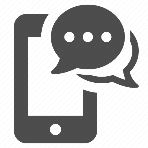 chat bubble, communication, message, phone, smartphone, sms, speech bubble icon