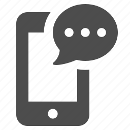 cell phone, chat bubble, communication, mobile phone, smartphone, speech bubble, telephone icon