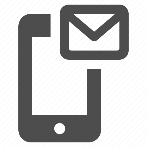 envelope, mail, mobile phone, smartphone, sms, telephone, touchscreen icon