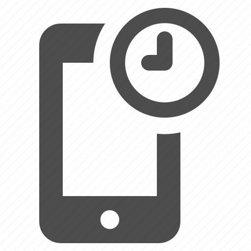 alarm, clock, mobile phone, phones, smartphone, telephone, touchscreen icon