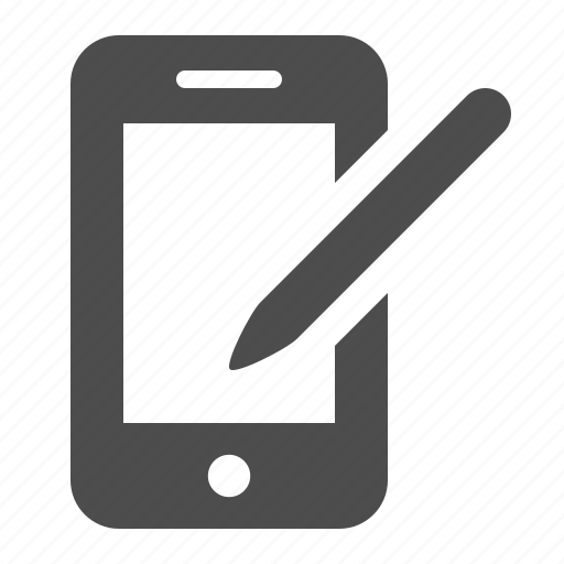 business, mobile phone, pda, phone, smartphone, stylus, telephone icon