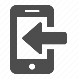 arrow, download, mobile phone, phone, smartphone, telephone, touchscreen icon