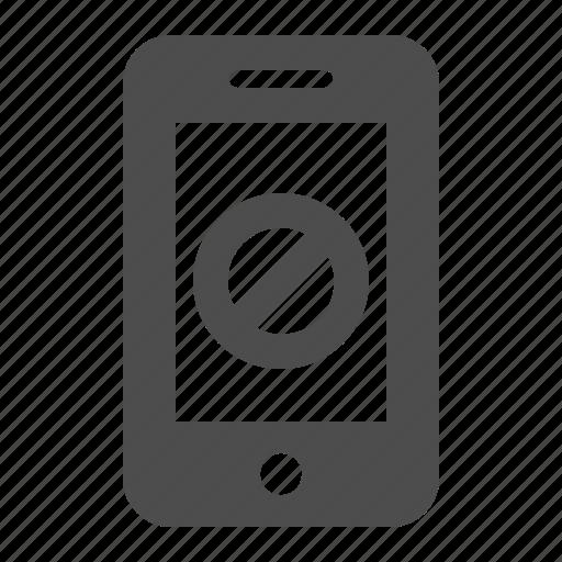 blocked, mobile phone, phone, phones, restricted, smartphone, telephone icon