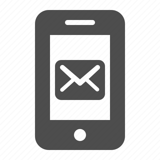 e-mail, envelope, mobile phone, phone, smartphone, sms, telephone icon