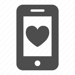 app, dating, heart, love, mobile phone, phone, smartphone icon