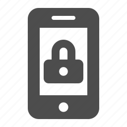 lock, locked, mobile phone, phone, security, smartphone, telephone icon