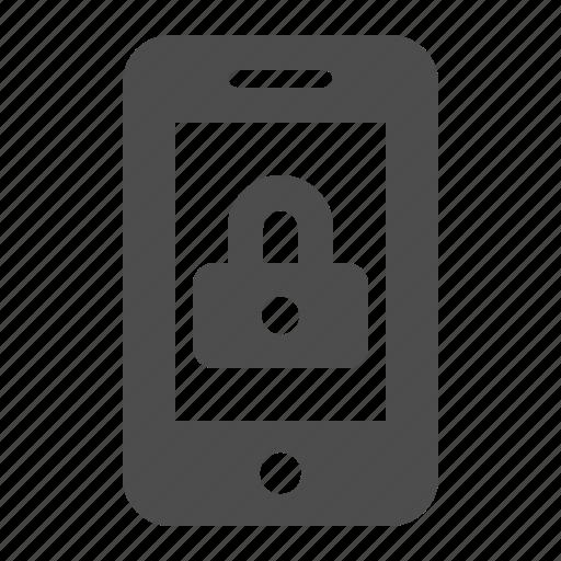 lock, locked, mobile phone, phone, security, smartphone, telephone icon