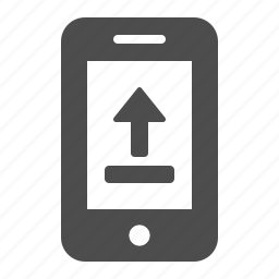 cell phone, internet, mobile phone, phone, smartphone, telephone, upload icon