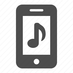 app, cell phone, mobile phone, music note, phone, smartphone, telephone icon