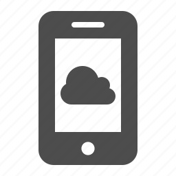 app, cell phone, cloud computing, mobile phone, smartphone, telephone, weather icon