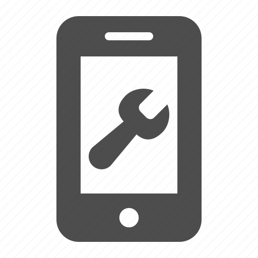 mobile phone, phone, repair, smartphone, telephone, tool, wrench icon